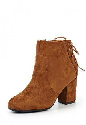 Ботильоны HF Shoes. Цвет: коричневый
