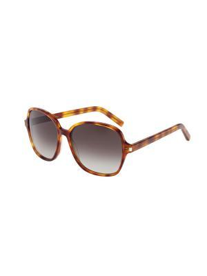 Солнцезащитные очки Saint Laurent. Цвет: желтый, коричневый