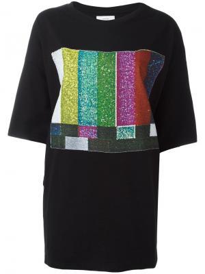 Oversized printed front T-shirt Facetasm. Цвет: чёрный