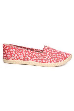 Туфли-слиперы Moleca. Цвет: красный