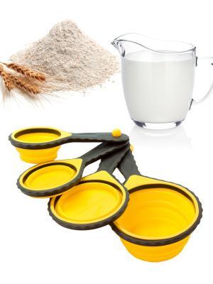 Набор мерных чашек Borner. Цвет: желтый