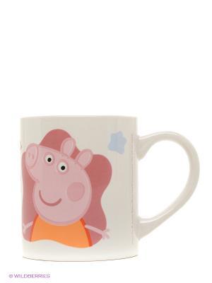 Кружка керамическая в подарочной упаковке. Свинка Пеппа Stor. Цвет: белый, розовый