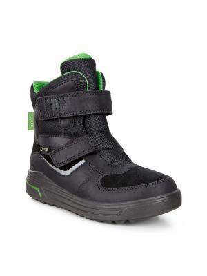 Ботинки ECCO. Цвет: зеленый, черный