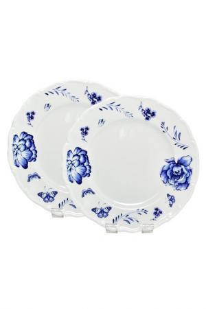 Набор тарелок 2 шт Федерация. Цвет: синий