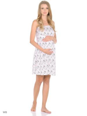 Ночная сорочка для беременных и кормления 40 недель. Цвет: черный, розовый, белый
