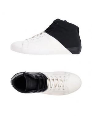 Высокие кеды и кроссовки LEATHER CROWN. Цвет: белый