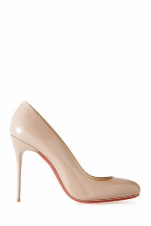 Туфли из лакированной кожи Fifi 100 Christian Louboutin. Цвет: none