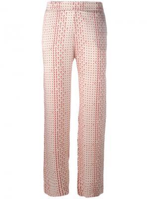 Пижамные брюки Modern Asceno. Цвет: розовый и фиолетовый