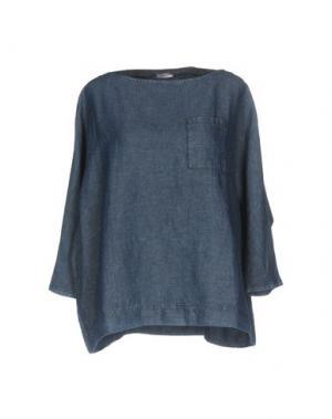 Джинсовая рубашка ROSSOPURO. Цвет: синий