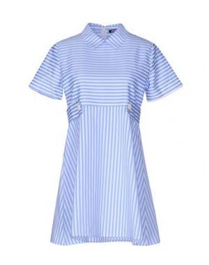 Короткое платье NINEMINUTES. Цвет: лазурный