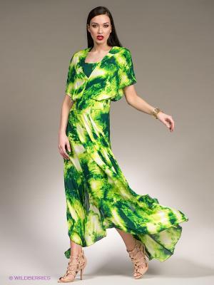Платье Isabel de Pedro. Цвет: зеленый, салатовый, белый