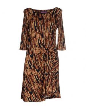 Короткое платье HOPE 1967. Цвет: коричневый