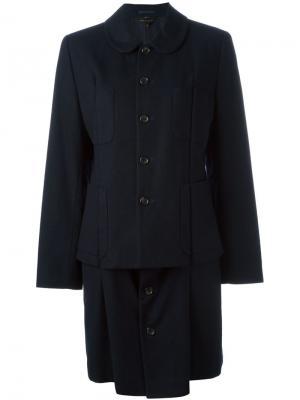 Пальто на пуговицах Comme Des Garçons Vintage. Цвет: синий