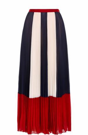 Плиссированная юбка-макси с принтом REDVALENTINO. Цвет: разноцветный