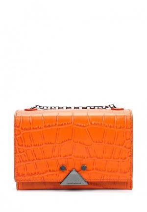 Сумка Emporio Armani. Цвет: оранжевый