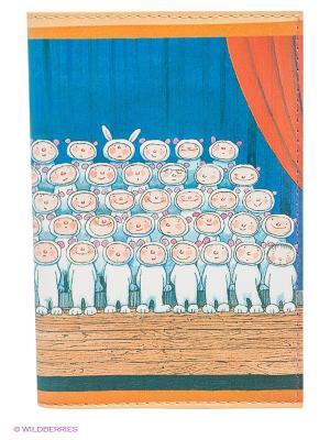 Обложка для автодокументов Мальчики-зайчики Mitya Veselkov. Цвет: синий, розовый, белый