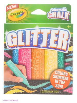Мел для асфальта с блестками Crayola. Цвет: зеленый