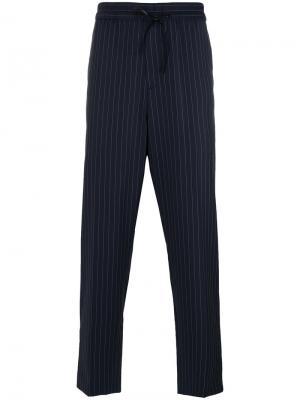 Спортивные брюки в полоску 3.1 Phillip Lim. Цвет: чёрный
