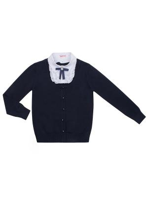 Джемпер 7 одежек. Цвет: синий, белый