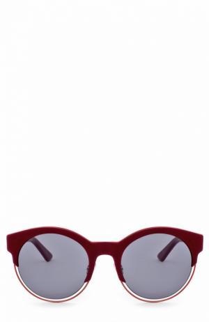 Солнцезащитные очки Dior. Цвет: бордовый