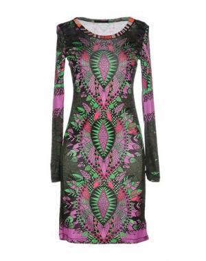 Короткое платье CUSTO BARCELONA. Цвет: темно-зеленый