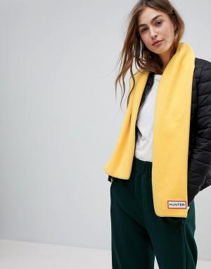 Hunter Флисовый шарф Original. Цвет: желтый