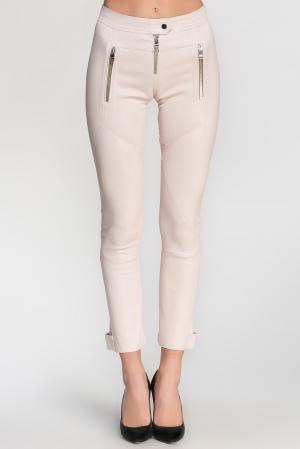 Кожаные брюки 128913 Jitrois. Цвет: бежевый