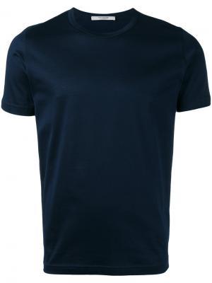 Базовая футболка La Fileria For Daniello D'aniello. Цвет: синий
