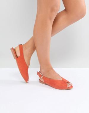 ASOS Балетки LEELA. Цвет: оранжевый