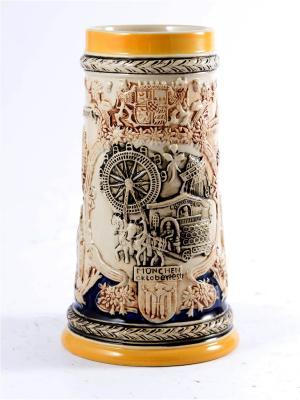 Пивная кружка коллекционная Мюнхен BURGER. Цвет: коричневый, оранжевый, темно-бежевый