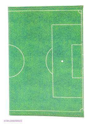 Обложка для автодокументов Футбольное поле Mitya Veselkov. Цвет: зеленый