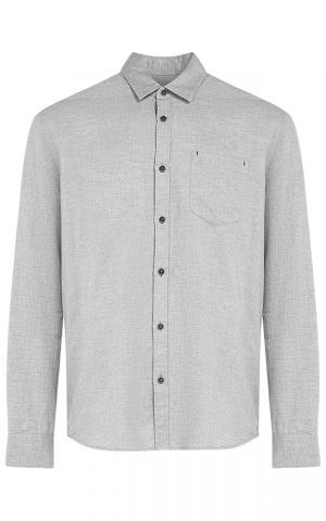 Серая хлопковая рубашка Al Franco