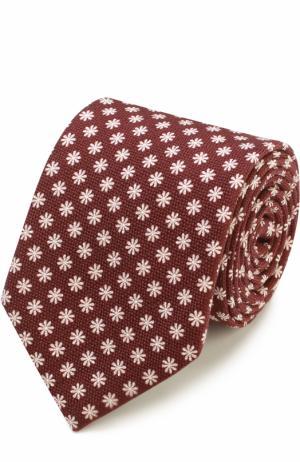 Шелковый галстук с цветочным узором Ermenegildo Zegna. Цвет: бордовый