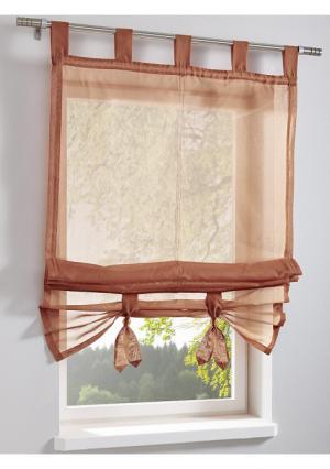 Римская штора Heine Home. Цвет: зеленый, серый