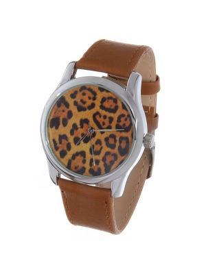 Часы Mitya Veselkov Леопардовый принт. Цвет: темно-коричневый