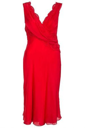 Платье Alberta Ferretti. Цвет: коралловый