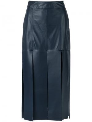 Leather midi skirt Giuliana Romanno. Цвет: none