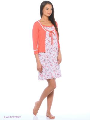 Комплект Milana Style. Цвет: коралловый