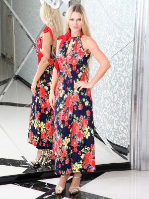 Платье Lussotico. Цвет: темно-синий, красный