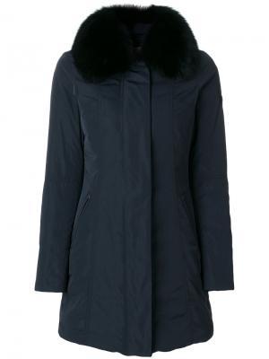 Куртка с меховой отделкой Peuterey. Цвет: синий
