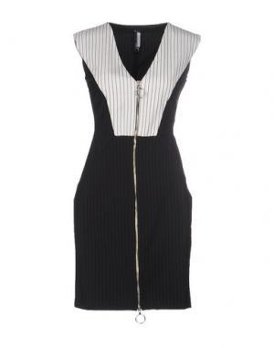 Короткое платье PIANURASTUDIO. Цвет: черный