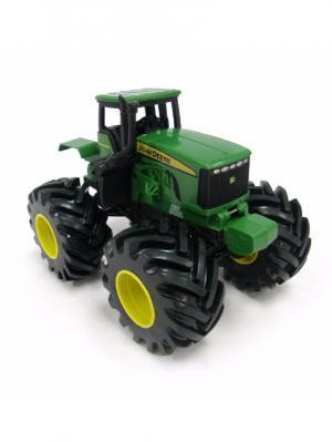 Трактор Monster Treads с большими колесами вибрацией и звуком TOMY.. Цвет: зеленый, желтый, черный