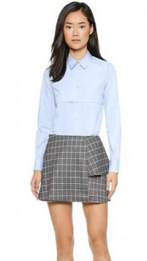 Рубашка без рукавов Cindy KIMEM. Цвет: голубой