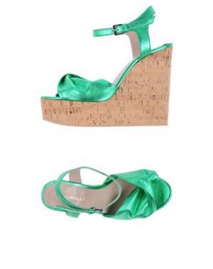 Сандалии DEIMILLE. Цвет: зеленый