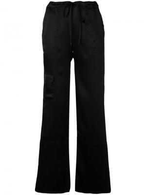 Расклешенные брюки Marquesalmeida Marques'almeida. Цвет: чёрный