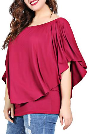 Блуза VALERIA FRATTA. Цвет: vinous
