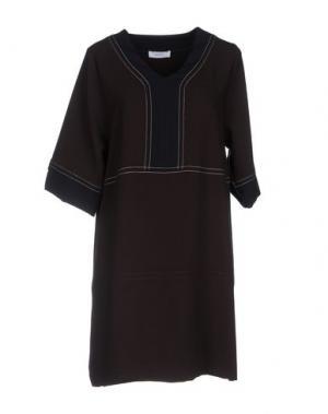 Короткое платье SITA MURT/. Цвет: темно-коричневый