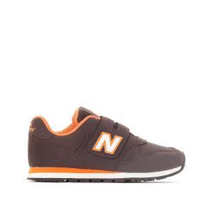 Кроссовки с застежкой на планки-велкро KV373BOY NEW BALANCE. Цвет: каштановый / оранжевый