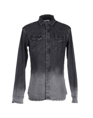 Джинсовая рубашка PIERRE BALMAIN. Цвет: черный