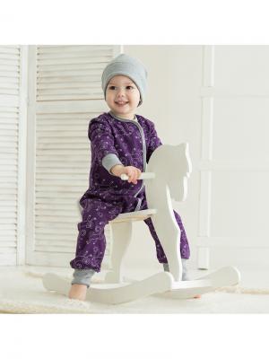 Пижама Bambinizon. Цвет: сиреневый